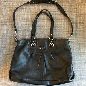 Coach Ashley satchel, soft black leather, b1160